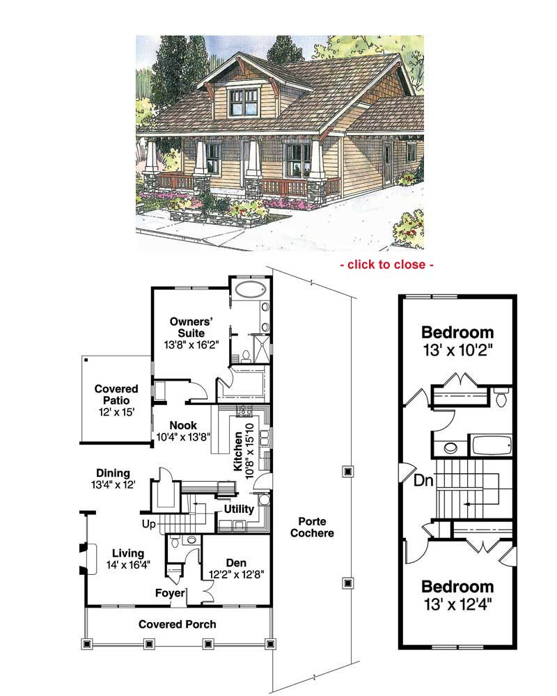 CRAFTSMAN COTTAGE II House Plan - 1876 - House Plans | Home Plans