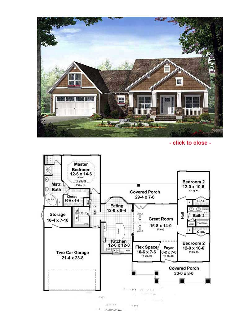 Bungalow floor plans bungalow style homes arts and for Bungalow floor plans