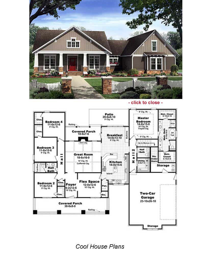 Bungalow floor plans bungalow style homes arts and for Cottage style floor plans