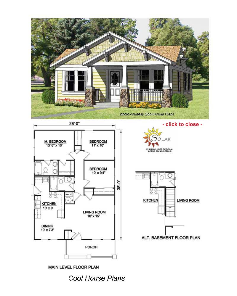 Bungalow floor plans bungalow style homes arts and for Craftsman bungalow home plans