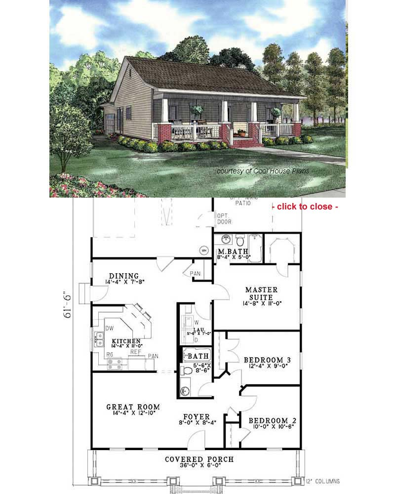 Bungalow with screened porch 1 5 story house plans 1 1 2 for Bungalow building plans