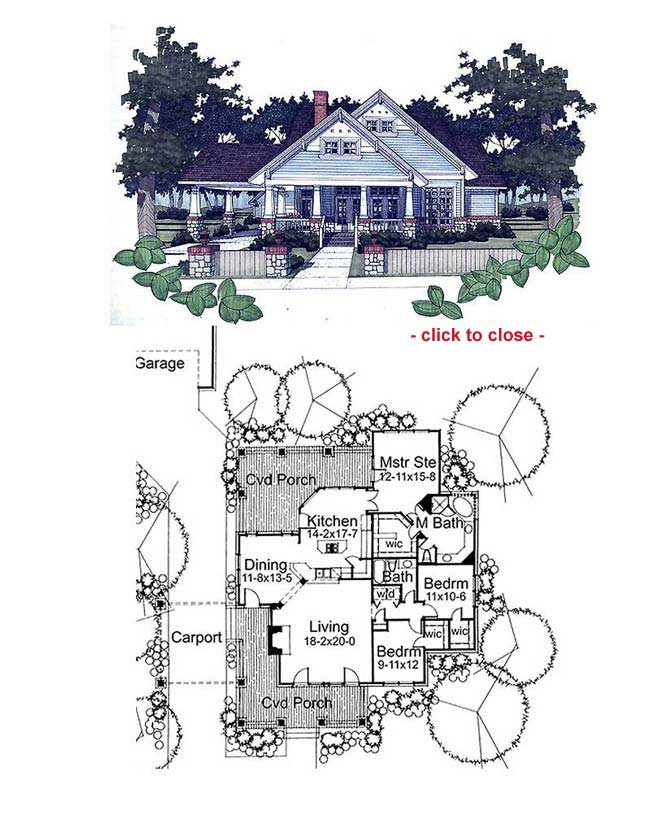 Bungalow floor plans bungalow style homes arts and for Arts and crafts house plans