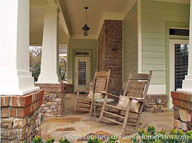 bungalow house plan front porch by familyhomeplans.com