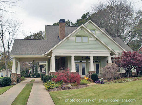 craftsman style home built from plan by familyhomeplans.com