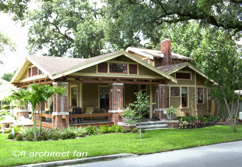 Bungalow style homes craftsman bungalow house plans for Bungalow house plans with front porch