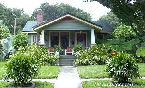 Bungalow Porch On Ranch Style Home