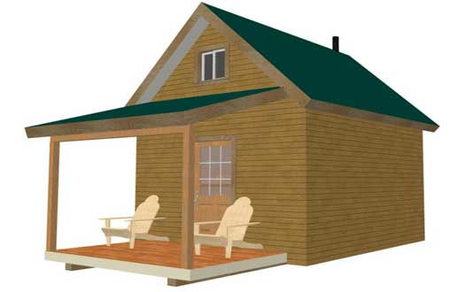 bunk cabin with porch
