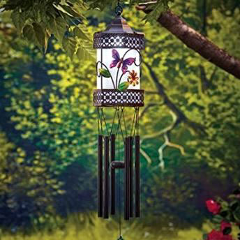 butterfly wind chime from amazon.com