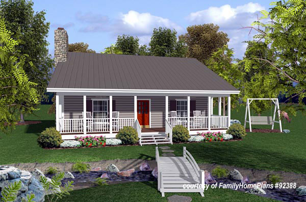 small cabin house plan by family home plans 92388 - Cabin House Plans