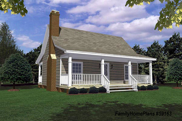 small cabin house plan by family home plans 59163