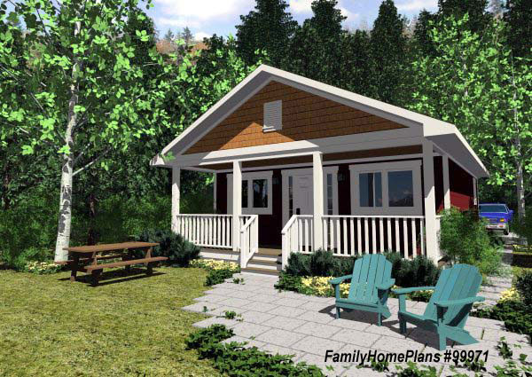 Small cabin house plans small cabin floor plans small for Familyhomeplans 75137