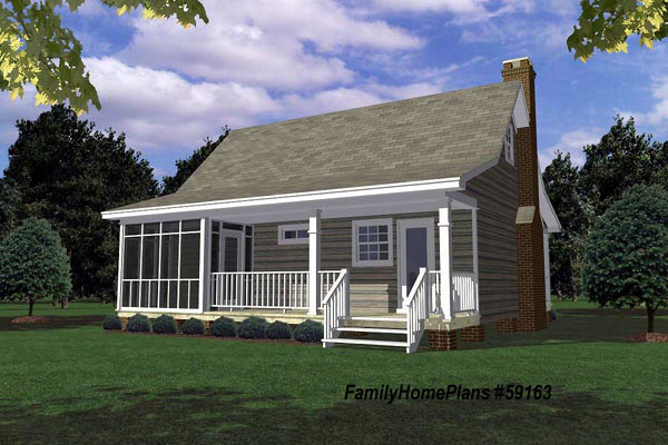Family Home Plans   Plan #59163. Small Cabin ...