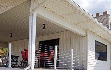 Muzata stainless steel cable railings on porch