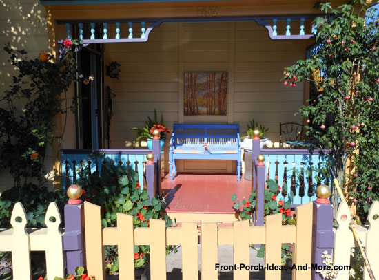 colorful front porch in california