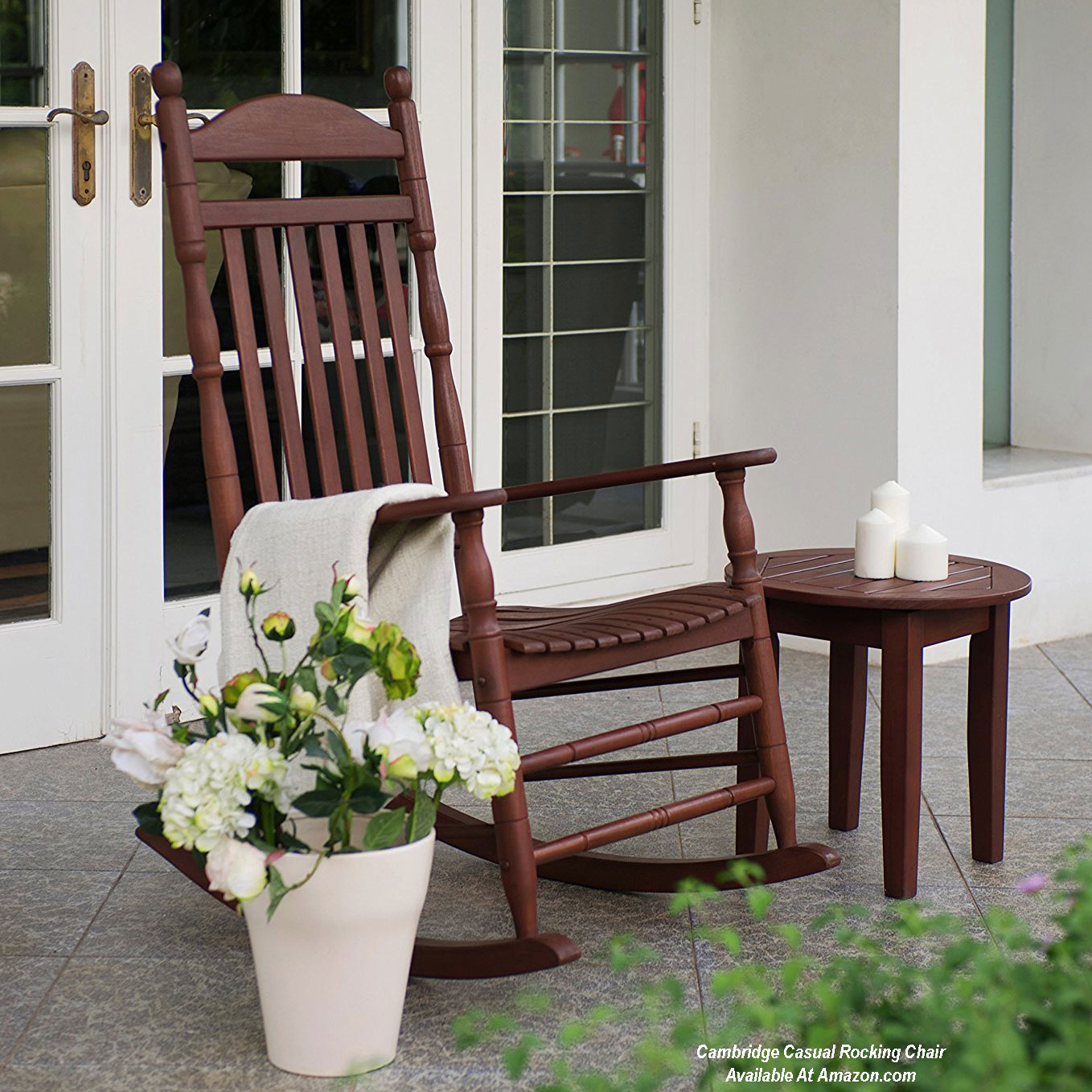 Marvelous Porch rocking chair on front porch from Amazon