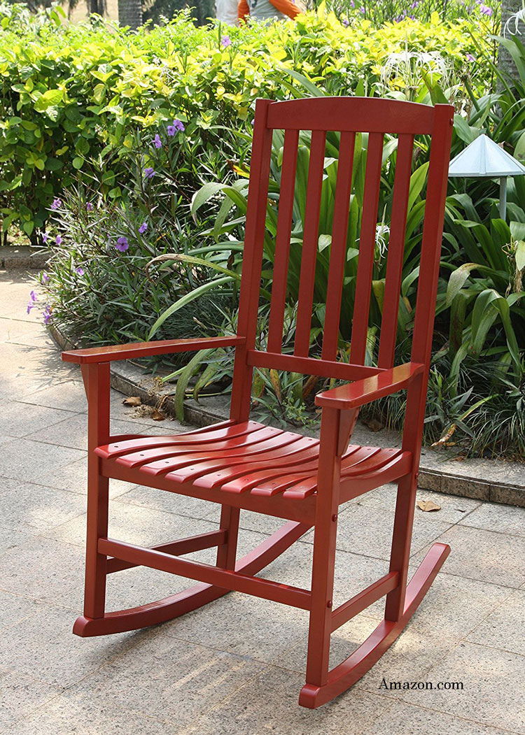 bentley porch rocking chair in red available on amazoncom affiliate