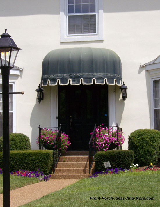 attractive canopy over front door