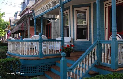 Victorian porch in Cape May NJ