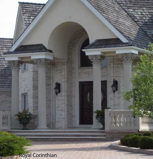 Beautiful Royal Corinthian Cast Stone Columns
