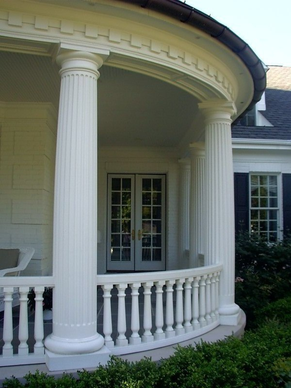 Porch Pillars And Columns : Cast stone column porch columns front designs