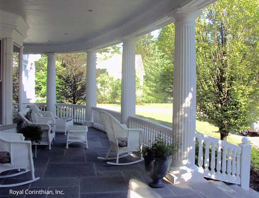 Cast stone column porch columns front porch designs for Front porch pillars design