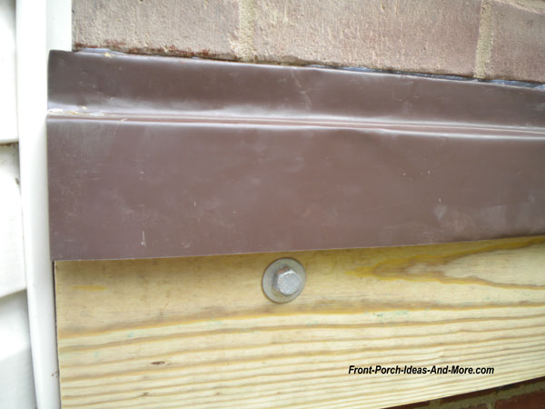caulk in groove for ledger flashing