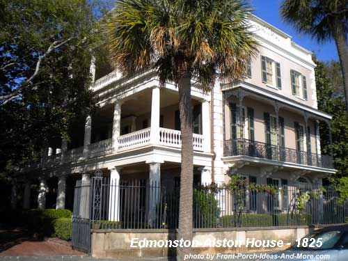 Charleston Historical Home with side porches