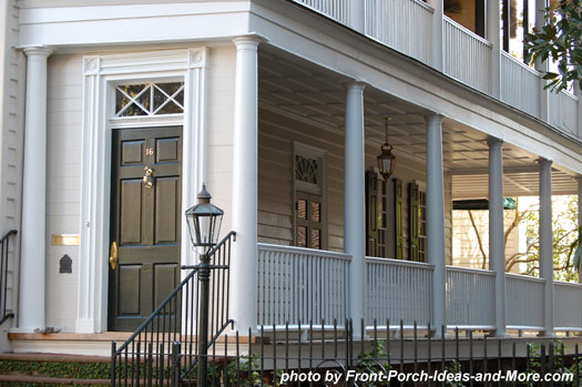 Charleston attractions southern home designs for Side porch house plans