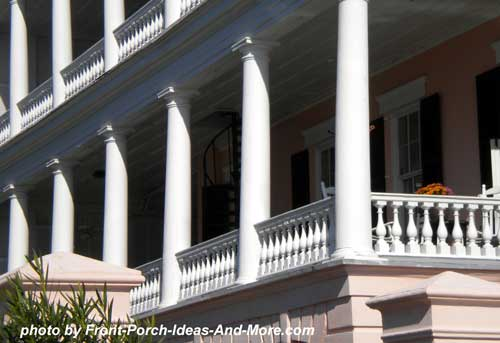 Charleston colonnaded Side Porch