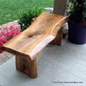 beautiful cherry garden bench