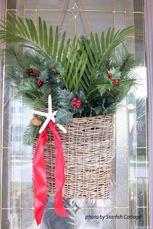 starfish door decoration for Christmas