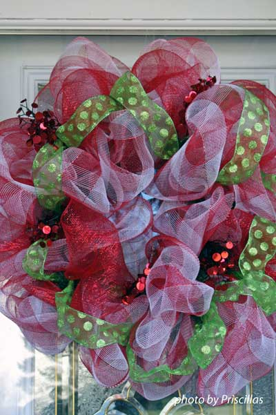 decomesh wreath Christmas wreath