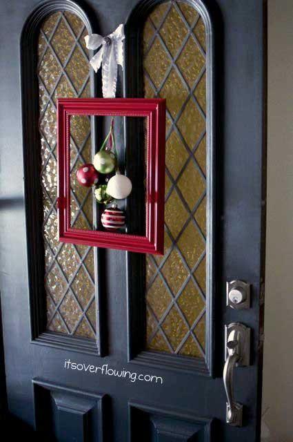 Christmas framed door decoration