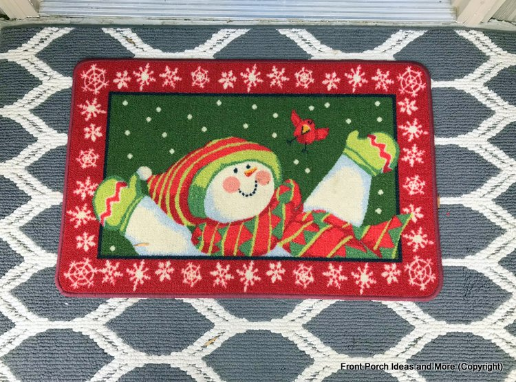 layered Christmas front door mat