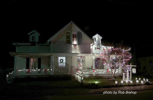 stunning Christmas lights on duplex home