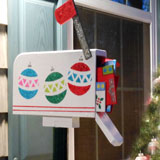 Christmas mailbox for front porch or yard