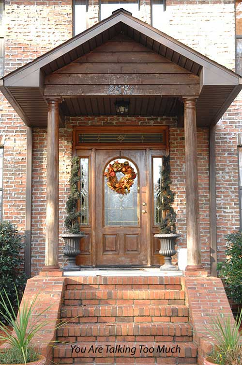 Front Porch before Christmas decorations