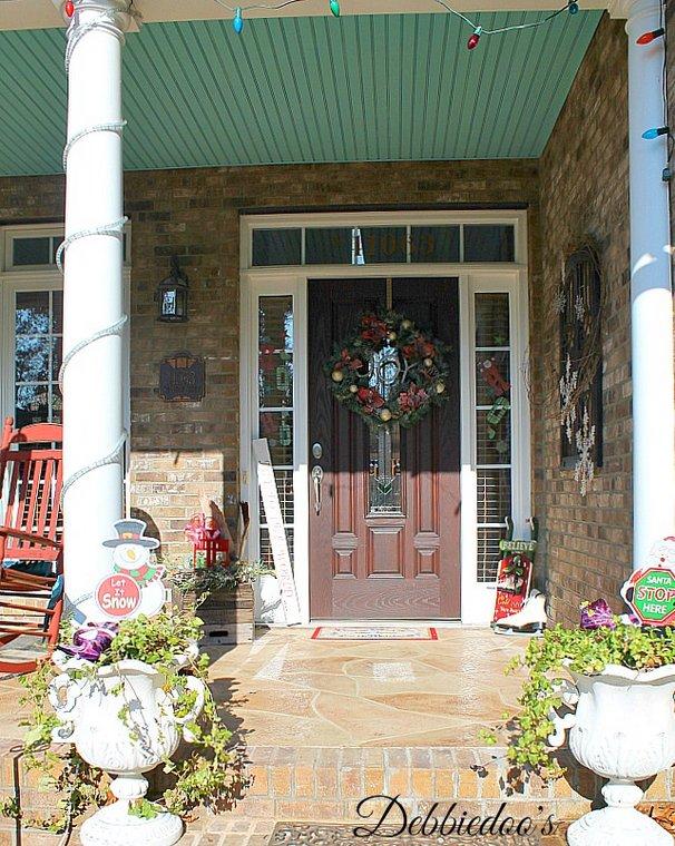 whimsical and festive Christmas decor - Debbie Doo's - fun Christmas porch