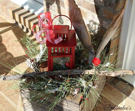 delightful Christmas decor - Debbie Doo's - reindeer made of palm tree bark
