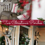 Two Christmas porches - Melanie's and Jeanie's