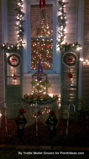 extra shutters used as decorations