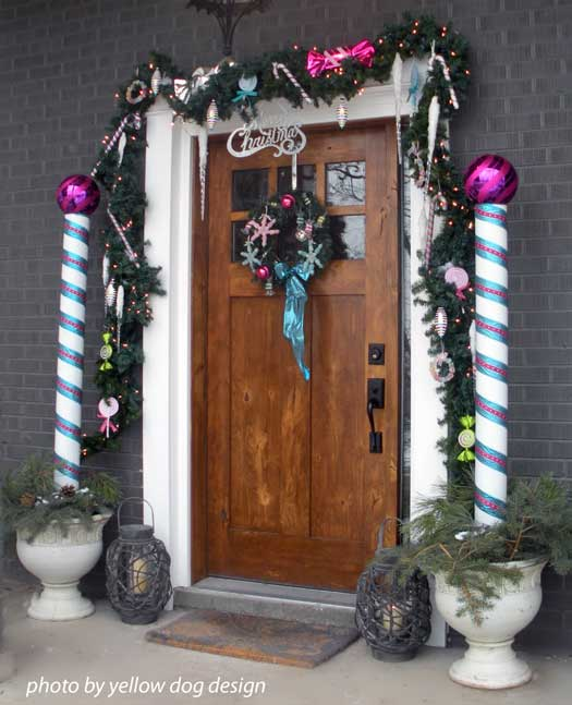Candy Cane Christmas Door Decorations