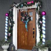 more Christmas door decorations