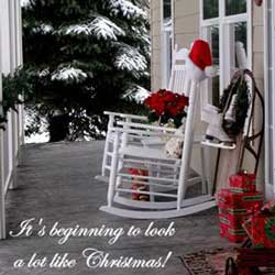 Kimberly's country porch for Christmas