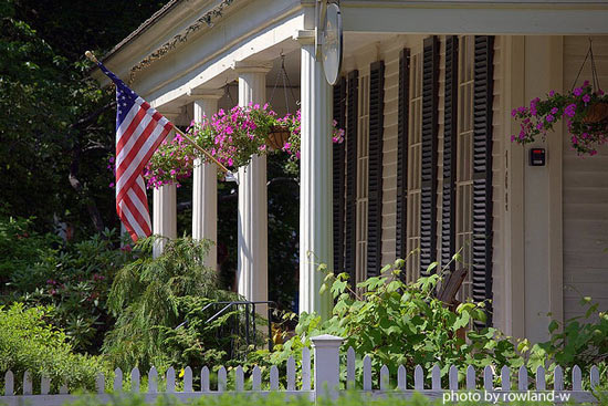 typical fluted front porch columns