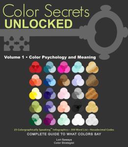 Color Secrets Unlocked - book cover shared by Lori Sawaya - LandOfColor.com