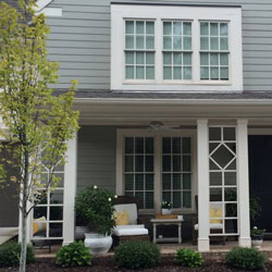 front porch columns with lattice design