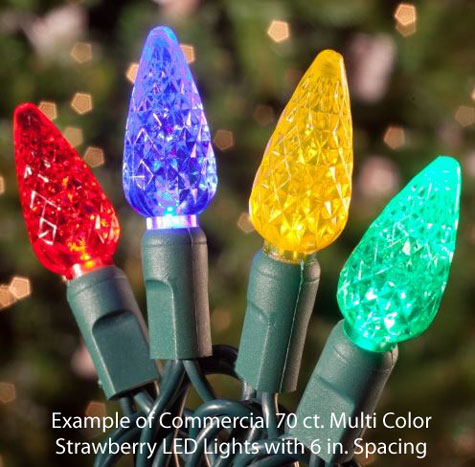 multi-led christmas lights with 6 inch spacing from hayneedle.com
