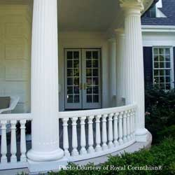 Porch columns and balustrades of composite materials - Royal Corinthian
