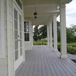 large front porch with composite decking
